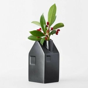 NEW! Hearth Hand Magnolia Bud Vase Black Medium